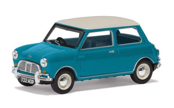 Corgi VANGUARDS Lledo VA02538 1/43 Scale Austin Mini Mk1 Cooper S Surf Blue  60th Anniversary Worn B
